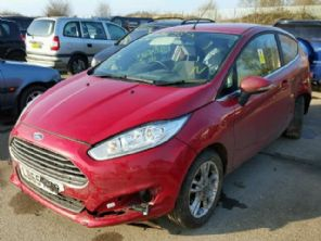 FORD FIESTA  MK 9  BONNET  ( RED / BURGUNDY )  USED    2014  2015  2016  2017